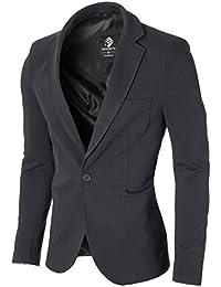 MODERNO Slim Fit Freizeit Baumwolle Herren Sakko Blazer (MOD14513B)