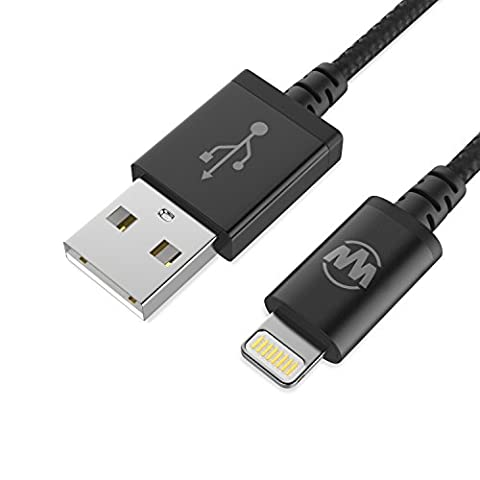 iPhone Charger Lightning Cable by Wanshine 1M Nylon Braided -