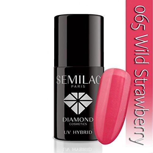 semilac UV Hybrid Nagellack, Anzahl 065, 7ml, Wild Erdbeere (Schlack Nagellack Starter Kit)