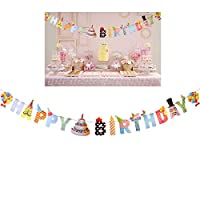 OULII Happy Birthday Banners Personalized Banners for Birthday Party Decoration