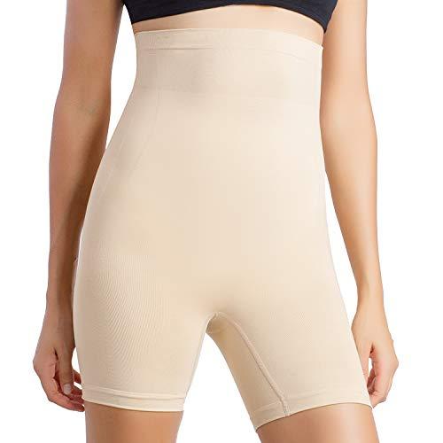 MD Damen Shapewear Miederhose stark formend Miederpants mit Bein Bauch Weg Taillenformer Shaper Figurformende Wäsche NudeL - Komfort Nahtlose Shaper Brief