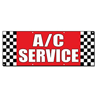 A/C Service Auto Body Shop Auto Repair 13Oz Vinyl Banner Schild mit Tüllen 4 Ft X 8 Ft