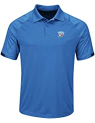 "Oklahoma City Thunder Majestic NBA ""Excitement"" Men's Synthetic Polo Shirt Chemise"