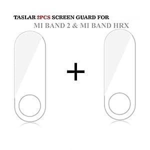Taslar Screen Scratch Guard Protector for Xiaomi Mi Band 2 & MI Band HRX Edition (Pack Of 2) (Transparent)