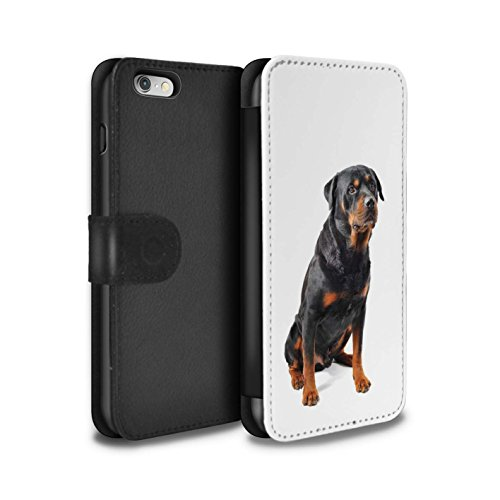 STUFF4 PU-Leder Hülle/Case/Tasche/Cover für Apple iPhone 8 / Bull Terrier Muster / Hund/Hunde Kollektion Swiss Mountain
