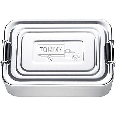 Lunch Box con incisione – alluminio - rettangolare – personalizzabile