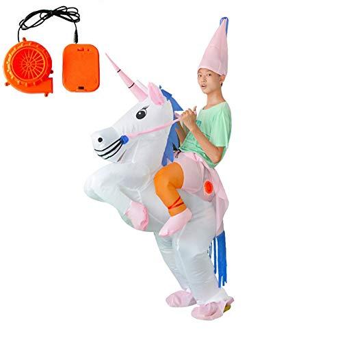 Lvbeis Reiten Einhorn Aufblasbare Kostüm Für Halloween Party Outfit Costume,80-140CM