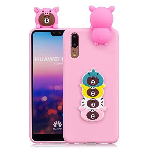 Huphant Compatible for Huawei P20 Pro hülle, Huawei P20 Pro hülle Silikon, Huawei P20 Pro Weiche Silikon TPU Bumper Case Pineapple,Ultra Protective Schutzhülle für Apple Huawei P20 Pro -Bär -