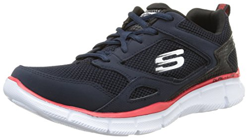 skechers EQUALIZER- GAME POINT - Zapatillas para hombre, Azul (Nvbk),