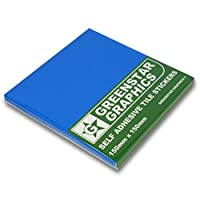 GREENSTAR GRAPHICS TILE STICKERS (150mm x 150mm) - CHOOSE YOUR COLOUR - To Fit 6 inch Kitchen/Bathroom Tiles - Peel & Stick - Easy to Use
