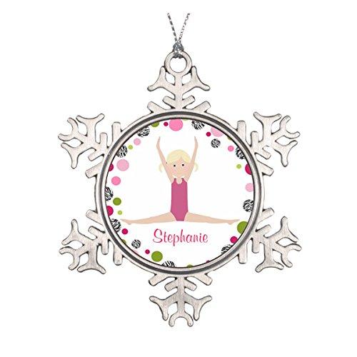 erin in pink Personalisierte Runde Keramik Weihnachten Ornament ()