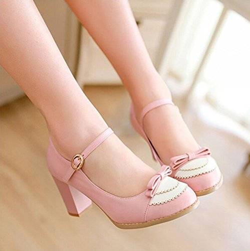 Heel 2015 High Women's Women Wedding Fashion Sexy Shoes 43 Rosa 34 Size Dress Pumps rxqwfCXIq