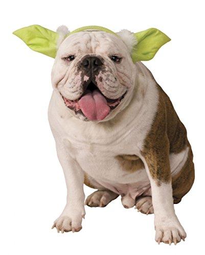Star Wars Yoda Ohren als Kostüm Zubehör für Hund & Katze (Katzen Für Yoda Kostüm)