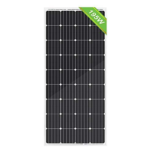ECO-WORTHY 150W 12v Monokristallin Solarpanel Solarmodul Ideal FÜR Berechnen 12 Volt Batterie Systeme Bausatz , Camping, Wohnmobil,Wohnmobile, Boote ,Gartenhäuser