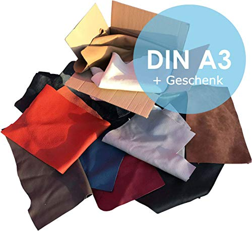 Lederreste Sortiert, 1000 g - größer DinA3 von kiloleder.de®
