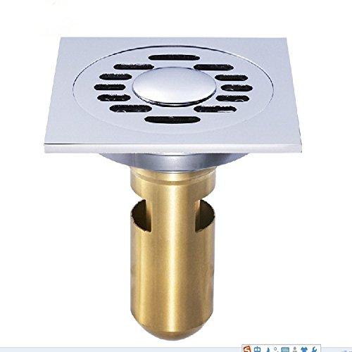 X&L Servizi igienici lavatrice linea doppio Sham deodorante rame scarico pavimento , 10*10cm