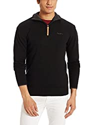 Pepe Jeans Mens Cotton Sweater (8907557023808_PIM0001936 4_XX-Large_Black)