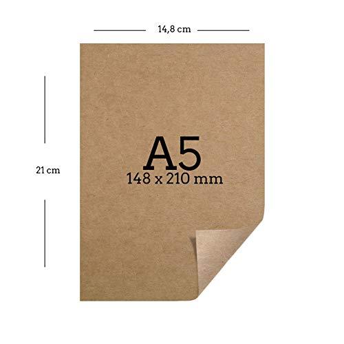 25 Blatt Kraftpapier A5 | 260 g