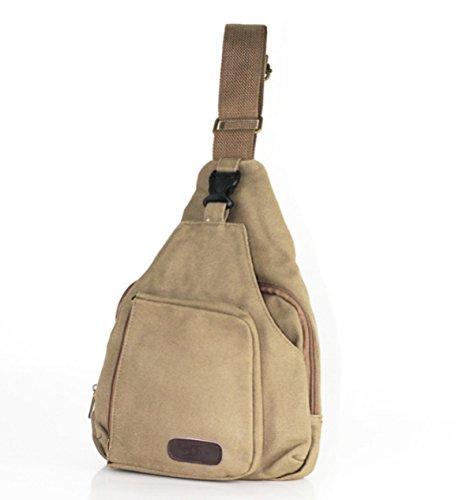 BULAGE Pack Brusttaschen Rucksäcke Männer Leinwand Lässig Schulter Im Freien Gehen Reisen Sport Reisen Leichten Brown