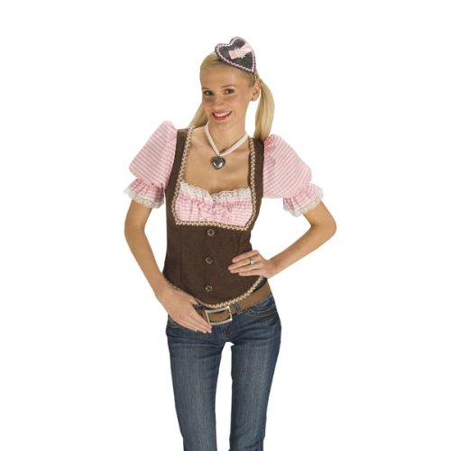 Trachten Mieder mit eingenähter Bluse, Bayern Kostüm für Oktoberfest / Karneval - 44/46 (Folklore Kostüme)
