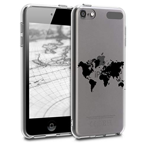 Kwmobile apple ipod touch 6g / 7g (6. und 7.generation) cover - custodia in silicone tpu per apple ipod touch 6g / 7g (6. und 7.generation) - backcover cellulare nero/trasparente