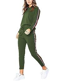 Donna Tuta Da Ginnastica 2 Pezzi Casual Sportiva Training Sets Vestiti Da  Jogging Sportswear Manica Lunga 96c358e563c4