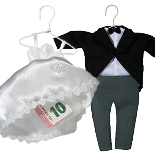 Bada Bing 2er Set Geschenkverpackung BRAUTKLEID und ANZUG Geldgeschenk Hochzeit Brautpaar Hochzeitskleid Hochzeitsdeko 95