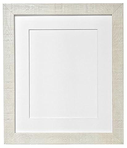 FRAMES BY POST 40 x 50 cm-Korn Bilderrahmen, mit weißem Passepartout, Glas und Kunststoff für Bildgröße A3, Off-White