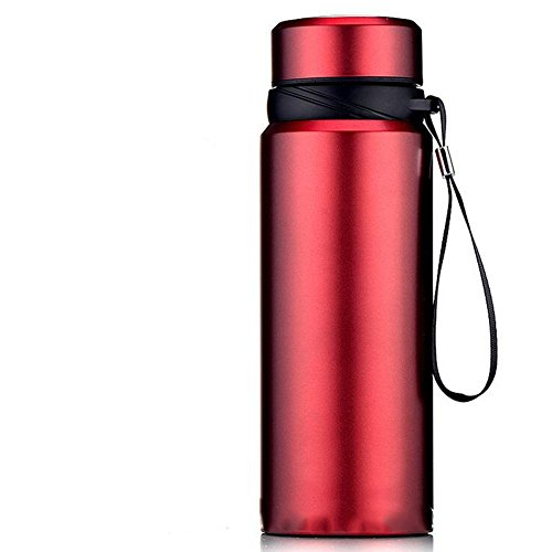 DONG Super-Kapazität/Isolierung/outdoor/Portable/Vakuum/Edelstahl/Glas , red , 750ml