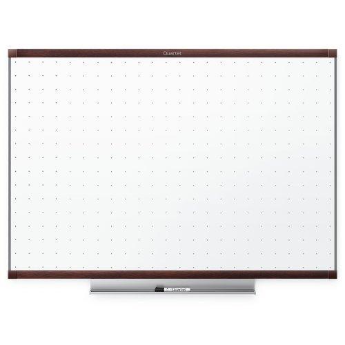 Quartet Prestige 2 Total Erase Whiteboard, 4 x 3 Feet, Mahogany Finish Frame (TE544MP2) by ACCO Brands