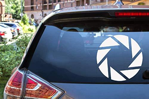 Auto Aufkleber Auto Aufkleber Aperture Science Portal Logo Vinyl gestanzte Stoßstange Windows Aufkleber Aufkleber 4