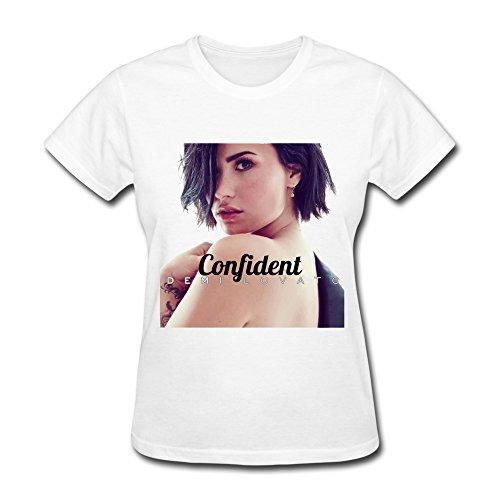 Triumph turn Women's Demi Lovato Confident Album T-Shirt- White