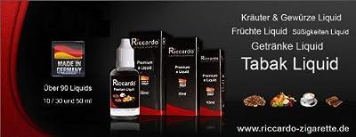Riccardo® Liquids stehen für Made in Germany mit einer guten Balance zwischen Dampfvolumen und Geschmack. Wählen Sie aus über 90 Sorten ihr Wunschliquid aus - 50 ml Großpackung von Riccardo