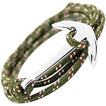 df173fe97bf6 GLANZWEAR Envolver el Brazalete con Ancla de la Nave en Plata Rope Silver  Edition