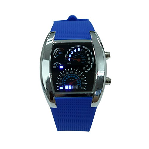 hde-mens-water-resistent-rpm-rally-tachometer-watch-with-royal-blue-silicone-band