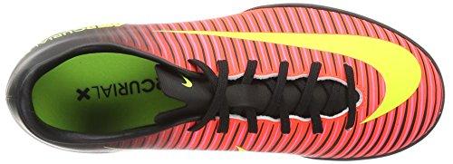 Nike Jr Mercurialx Vapor Xi Tf, Chaussures de Foot Mixte Bébé Multicolore (Rosa-Rot/Gelb/Schwarz/Pink)