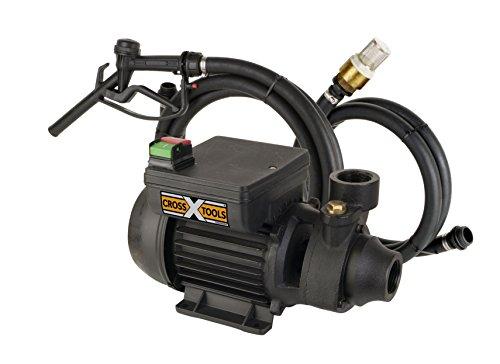 Cross Tools 68800 Kraftstoffpumpe Dieselpumpe Ölförderpumpe MultiOil 35 M mit Schlauchgarnitur und Zapfpistole, bis 2.100 l/h Fördermenge
