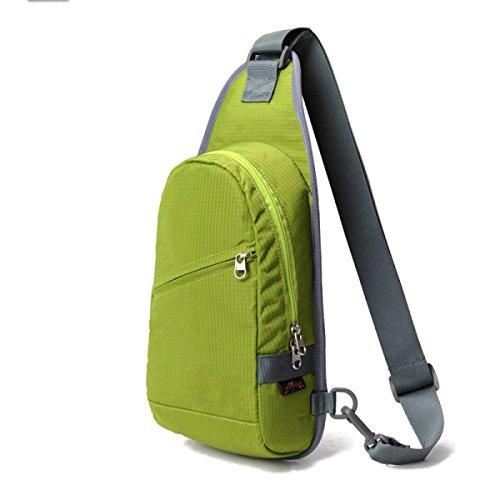 BULAGE Bag Brusttasche Outdoor Sport Schulter Männer Und Frauen Messenger Reiten Rucksack Freizeit Reisen Reisen Mode Wasserdicht Green
