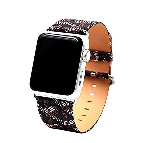 Armband für Apple Watch Series 3 Series 2 Series 1 Edelstahl Leder Ersatzarmband Uhrenarmband iWatch Armband 38mm
