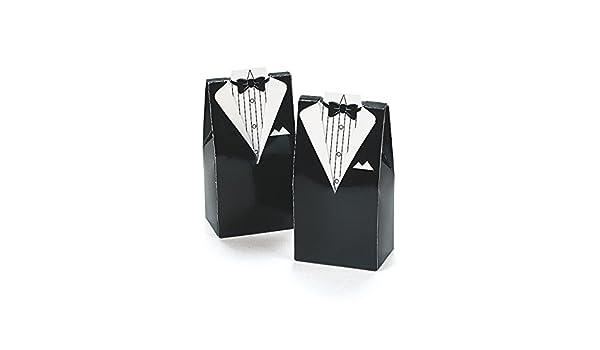 Smoking Anzug Mini-Faltboxen Geschenkboxen für Gastgeschenke 12 Stück Mitgebsel
