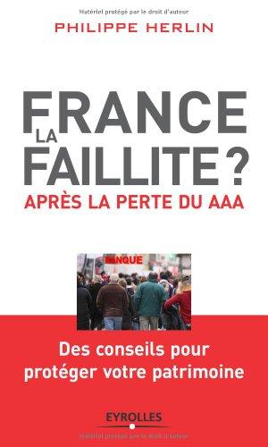 France, la faillite?: Après la perte du AAA par Philippe HERLIN