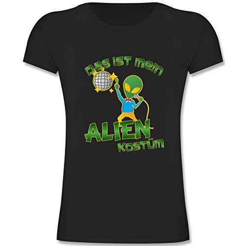 Kinder - Das ist Mein Alien Kostüm Disco - 164 (14-15 Jahre) - Schwarz - F131K - Mädchen Kinder T-Shirt ()