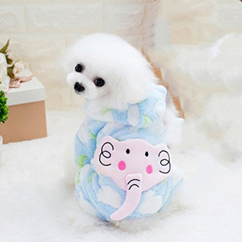 FLAMEER Ropa de Perro Gato Pijamas Mascotas Transpirable Traje de Disfraz de...