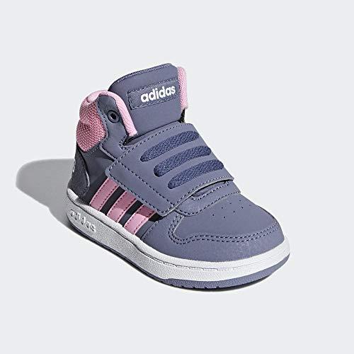 adidas Unisex-Kinder Hoops Mid 2.0 I Fitnessschuhe, Mehrfarbig (Indnat/Rosaut/Ftwbla 000), 26 EU
