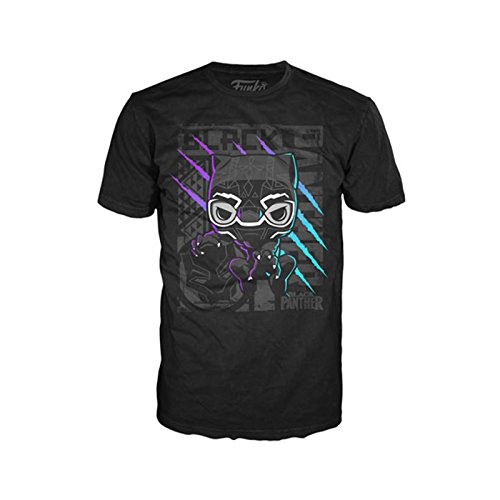 Funko POP Tees: Marvel - Black Panther Color Scratch, Unisex Adult, Black