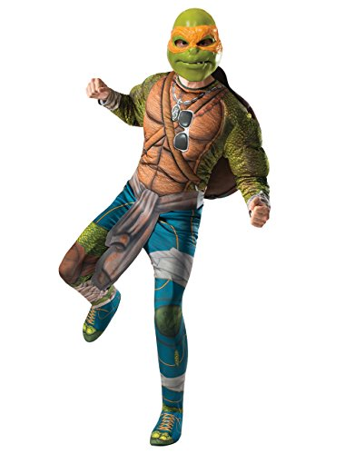 Teenage Mutant Ninja Turtle, Herren Kostüm Michelangelo Deluxe Film-Set, Standard, Brust 111.76 cm WAIST, 30 cm INSEAM 83.82 86.36 ()