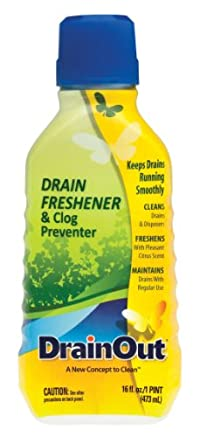 DrainOut Drain Freshener & Clog Preventer-16 Fluid Ounces-Environmentally Safe Powerful Drain Cleaner-Septic Safe