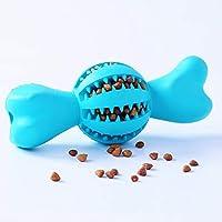 POPETPOP Dientes para Mascotas Limpieza Bola Bola Masticar Bola Diente Cepillo Fugas Comida Dientes Limpieza bastón Herramienta de capacitación Suministros para Mascotas - Tamaño Grande (Verde Menta)
