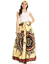 Sakkas Asma Convertible traditionnelle cire Imprimer sangle réglable Jupe longue | Robe