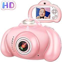 Superends Appareil Photo pour Enfants, Appareil Photo/Vidéo 1080p HD Dual Selfie, Appareil Photo Numérique pour Enfants avec Flash, Zoom Digital x4, écran LCD 2 Pouces, Microphone Intégré